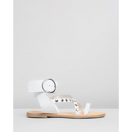 Isabel Sandals White by Sol Sana