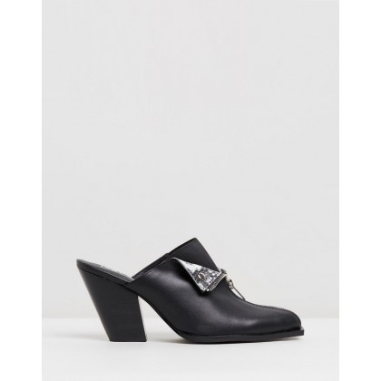 Isabella Mules Black by Sol Sana