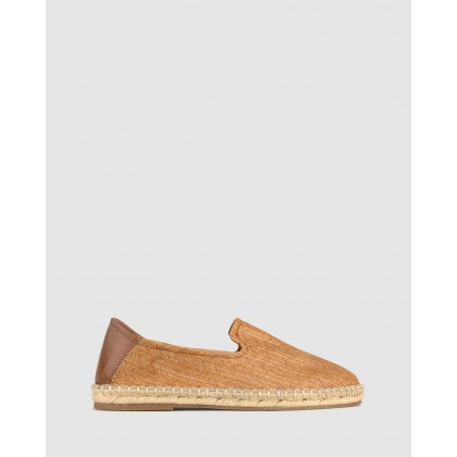 Island Slip On Espadrilles Tan Raffia by Zu
