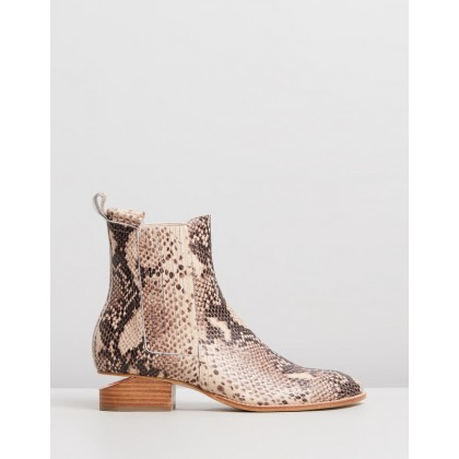 Isoly Boots Nude Python by Mollini