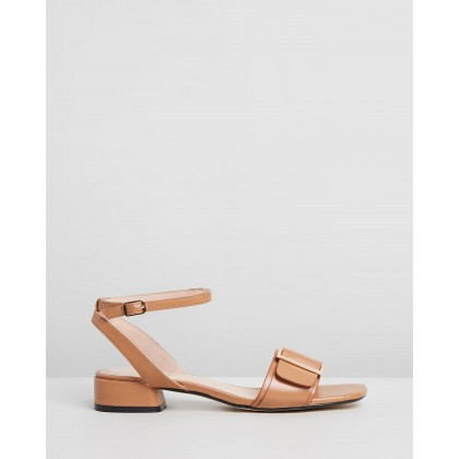 Ivanna Leather Sandals Toffee Leather by Atmos&Here