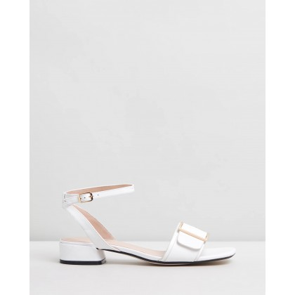Ivanna Leather Sandals White Leather by Atmos&Here