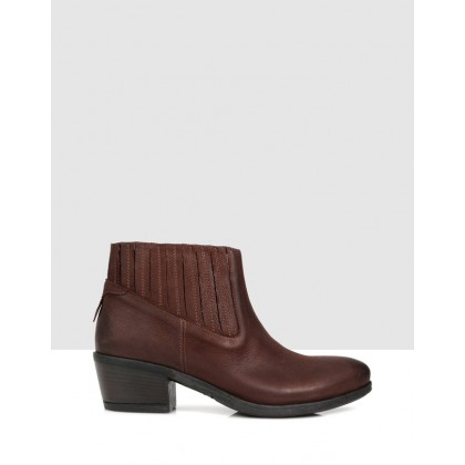 Ivetta Ankle Boots Brown by S By Sempre Di