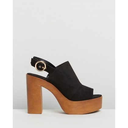 Ivy Black Faux Suede by Therapy