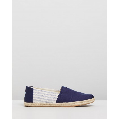 Ivy League Striped Alpagarta - Men's Navy by Toms