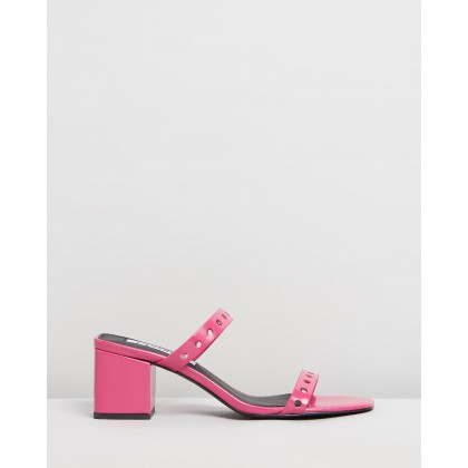 Ivy Mules Hot Pink by Caverley