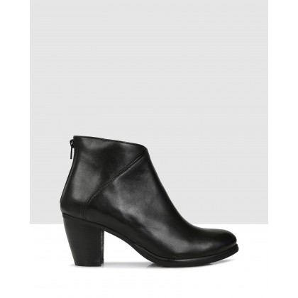Jacinta Ankle Boots NERO by Sempre Di