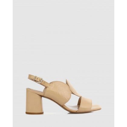 Jaclin Heeled Sandals Cappuccino by Sempre Di