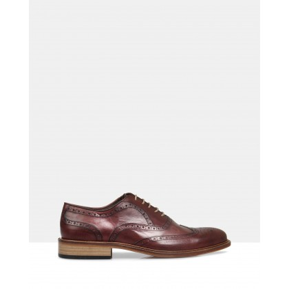 Jacob Leather Brogues Red by Brando