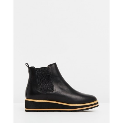 Jade Leather Boots Black by Walnut Melbourne
