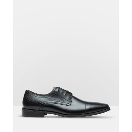 James Leather Derby Shoes Black by Oxford