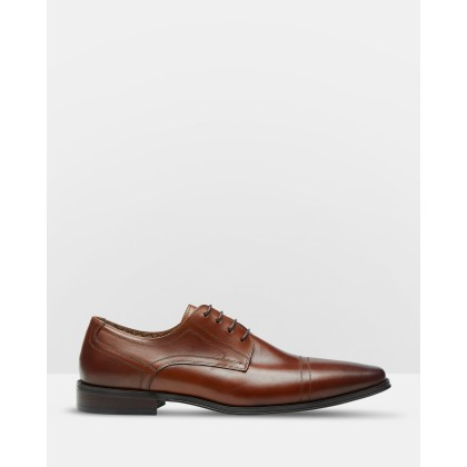 James Leather Derby Shoes Brown by Oxford