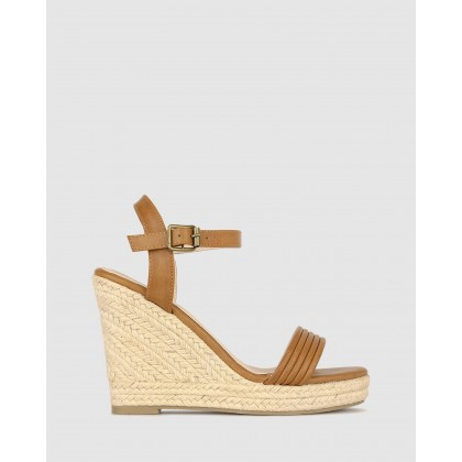 Jaraelle Wedge Sandals Tan by Betts