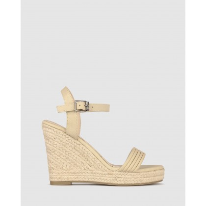 Jaraelle Wedge Sandals Nude by Betts