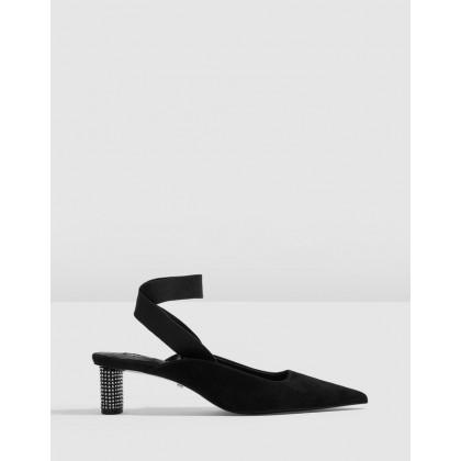Jax Diamante Heels Black by Topshop
