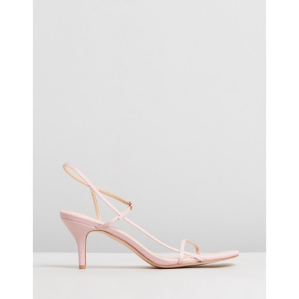 Jen Leather Heels Pink Leather by Atmos&Here