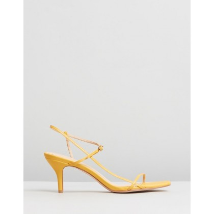 Jen Leather Heels Tangerine Leather by Atmos&Here