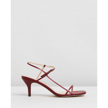 Jen Leather Heels Burgundy Leather by Atmos&Here