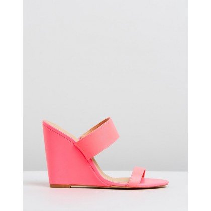 Jensen Wedges Pink Neon by Spurr