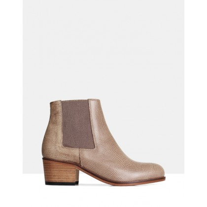 Jerry Ankle Boots TAUPE by Beau Coops