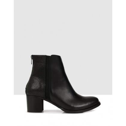 Jess Ankle Boots Black by Sempre Di