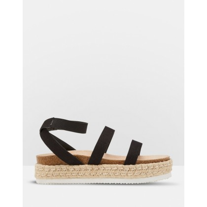 Jessica Canvas Espadrilles Black by Oxford