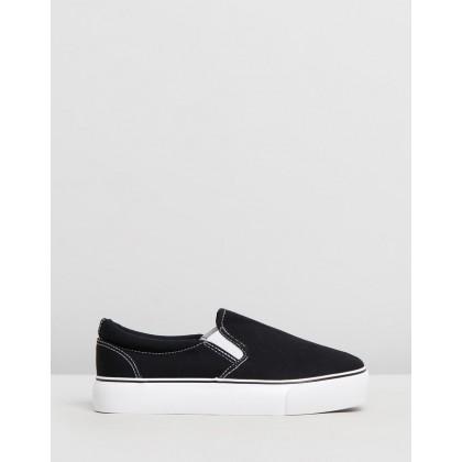 Jessie Platform Slip-On Sneakers Black by Rubi