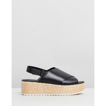 Jesson Leather Sandals Black by Vince