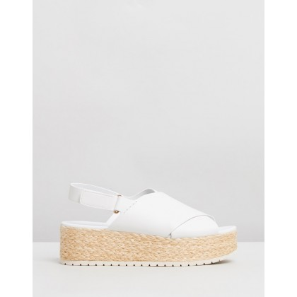Jesson Leather Sandals Off White by Vince