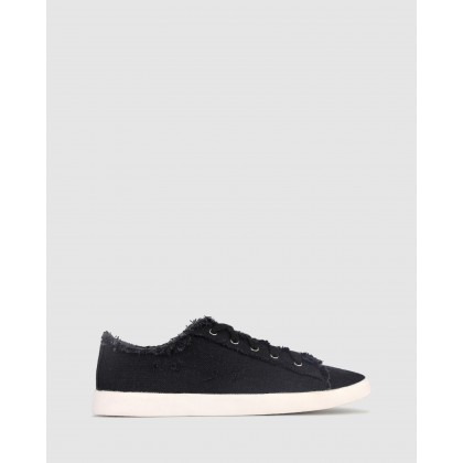 Jezz Lace Up Sneakers Black by Betts
