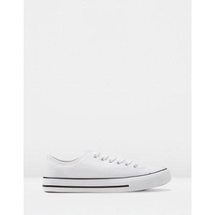 Jodi Low Rise Sneakers Bright White by Rubi