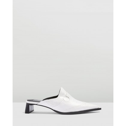 Jolene Mules White by Topshop