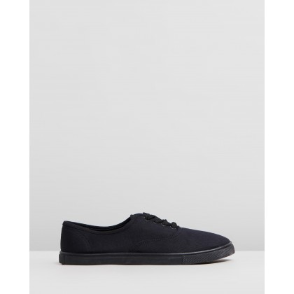 Juno Plimsoll Sneakers Black by Rubi