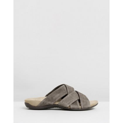 Juno Slide Sandals Greige by Vionic