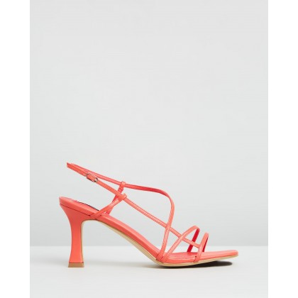 Kaia Heels Coral Smooth by Dazie