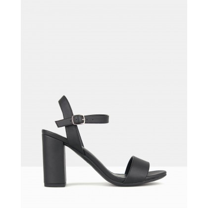 Karly Block Heel Sandals Black by Betts