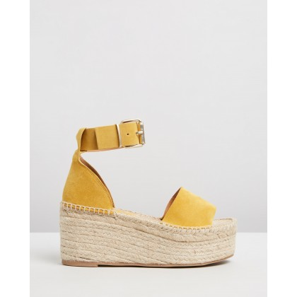 Karmen Mustard by Alohas Sandals