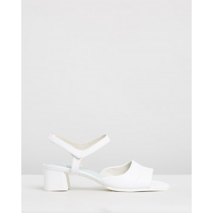 Katie Sandals White Natural by Camper