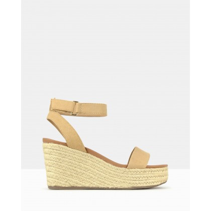 Kayla Wedge Sandals Sand by Betts