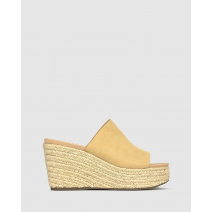 Kaz Platform Wedge Sandals Sand by Betts