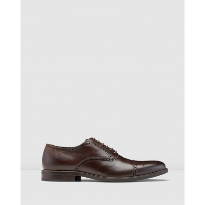Kensington Oxford Brogues Brown by Aquila