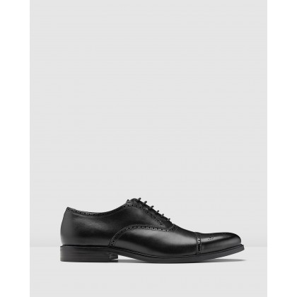 Kensington Oxford Brogues Black by Aquila