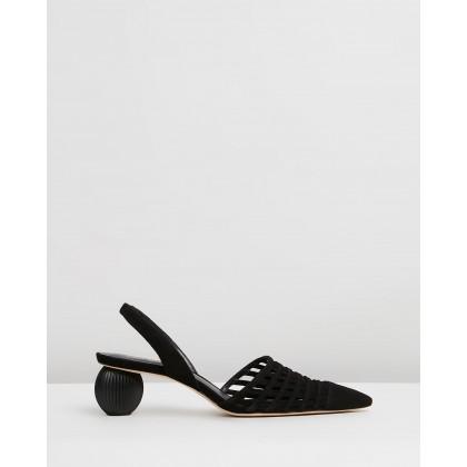 Keri Slingback Heels Black by Cult Gaia