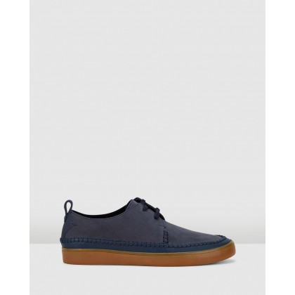 Kessell Craft Navy Leather by Clarks