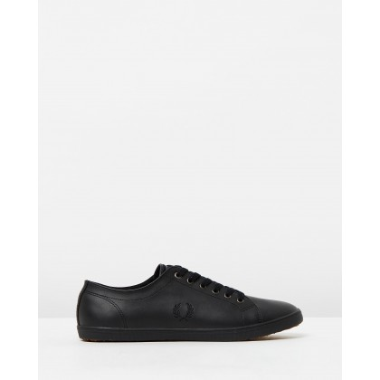 Kingston Leather Sneakers Black by Fred Perry