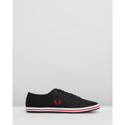 Kingston Twill Black & Winter Red by Fred Perry