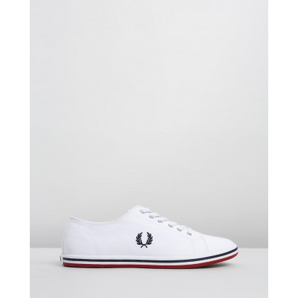 Kingston Twill White & Navy by Fred Perry