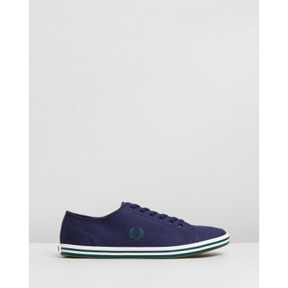 Kingston Twill Carbon Blue & Ivy by Fred Perry