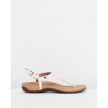 Kirra Backstrap Sandals White by Vionic