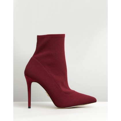 Knitted Sock Boots Burgundy by Lipsy